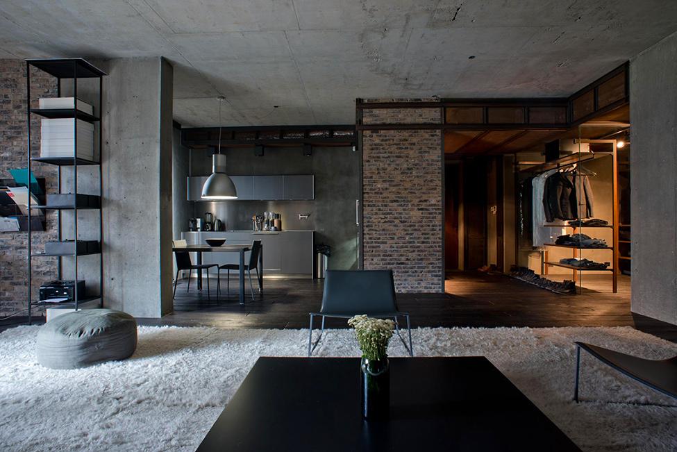 Квартиры в стиле лофт фото