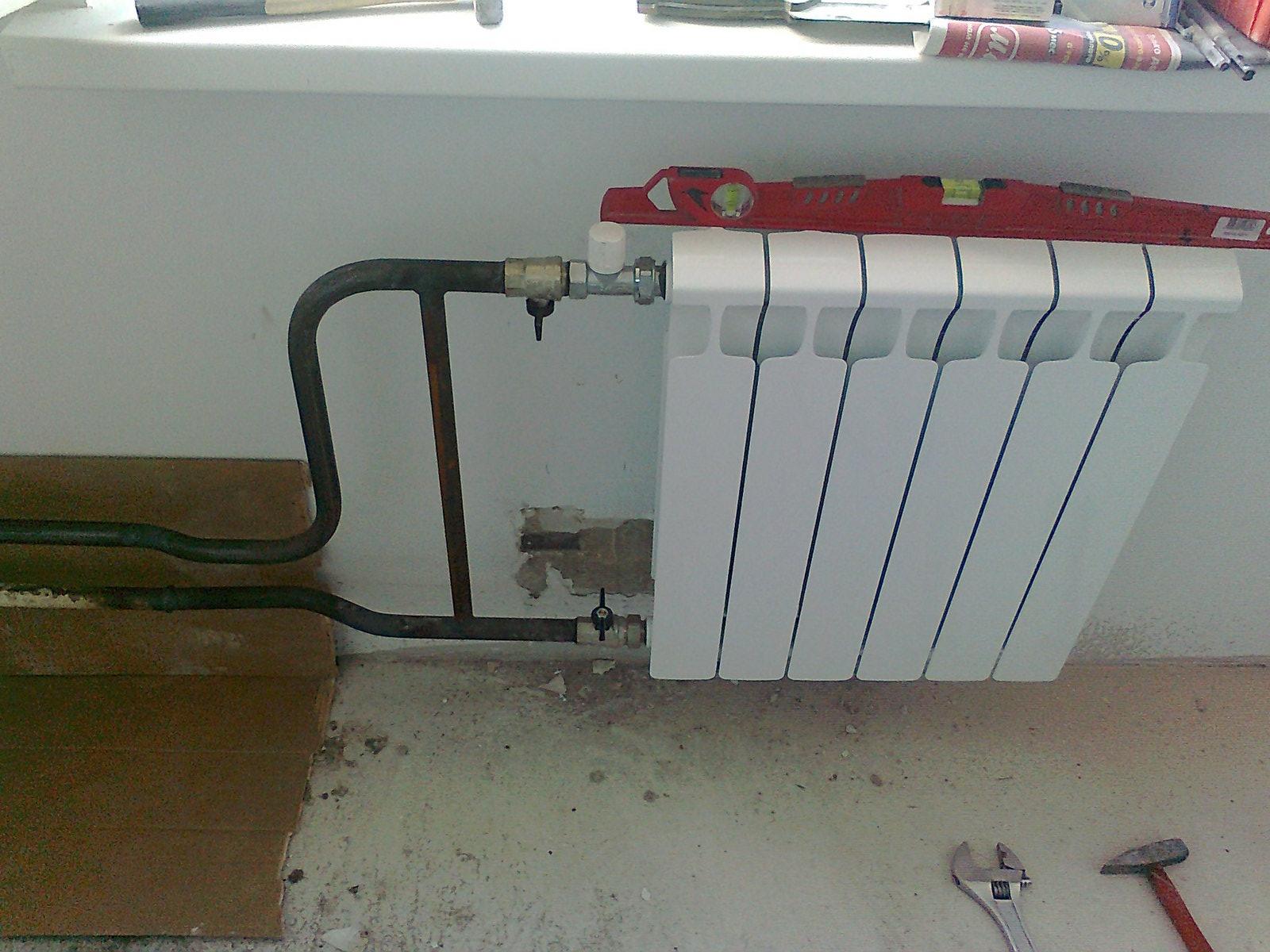 Установка биметаллических радиаторов отопления своими руками 52